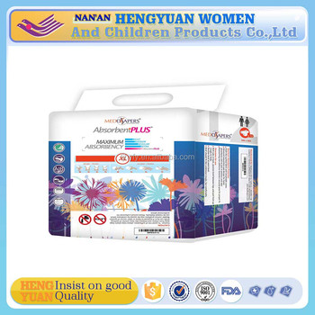 Non Woven Fabric Material and Leak Guard Anti-Leak high quality disposable adult diaper