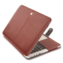 Crazy horse flip for macbook pro retina air leather cover full case