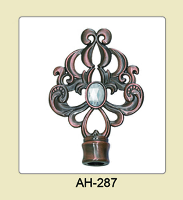 hot selling modern European style curtain rod finials