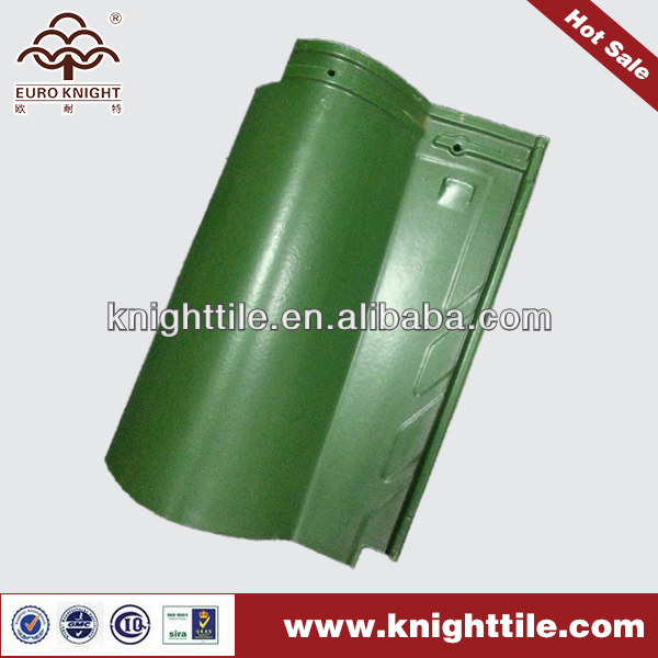 green spanish style barrel clay roof tile for sale