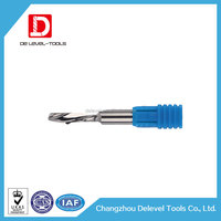 Delevel CNC Milling Tools Carbide Acrylic Engraving Cutters 1 Flute End Mills