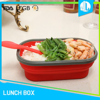 Single case school children silicone microwav lunch containe food boxes