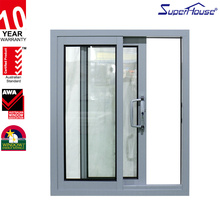 China supplier sound-proof glass curtain wrought iron sliding balcony window