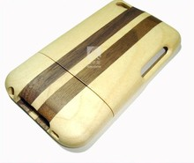 New Coming Plain Wooden Black Walnut spell Maple Case For Ipod touch4,plain wooden cases