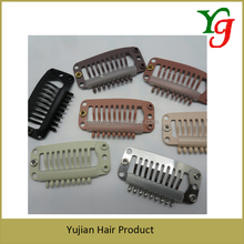 H-14 High Quality Stronger Steel Wig Clips 9 teeth Touppe Clip 3.2*1.4cm