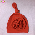 Cute Soft Cotton Christmas Red Knot Hat With Handmade Flower New Born Baby Girl Beanie Hats