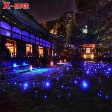 Garden Park Christmas Tree Decoration Mini Cheap Aluminium Single Bue Star Points Laser Light Outdoor Room Decoration Light