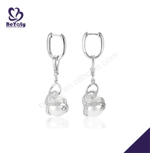 new product jewelry made in china wholesale silver austrian crystal earrings