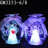 Candy shaped led glass ball for christmas decor