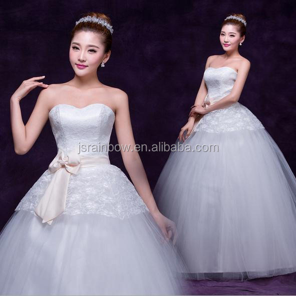 New fashionable korea sweet princess bride wedding dress show thin elegant neat, wedding dresses