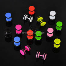 Stainless Steel Fake Ear Plugs Earring Expanders