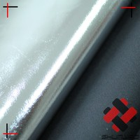 black polyester pongee silver foil reflective fabric for photographic umbrella