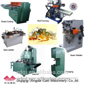 equipment for food cans making machines/production line