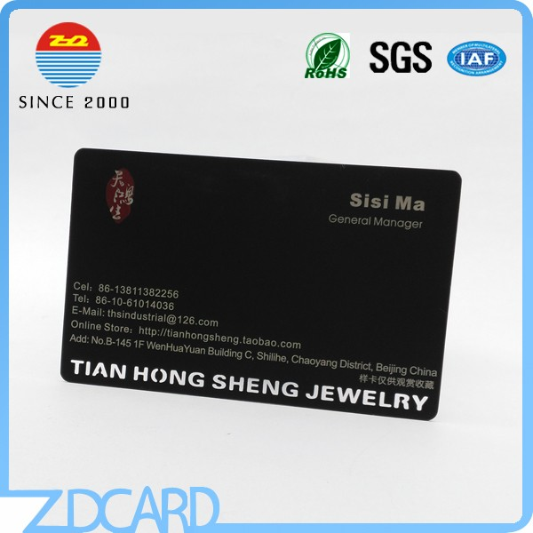 Wholesale stainless steel black business metal card