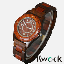 New In Box Unisex Beige/Brown Date Natural Wood Wooden Watch wooden wrist watch