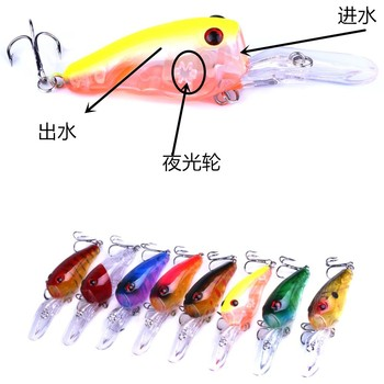 3D Eye Artificial Bait fishing lure Lures 6# Hook 9 cm 11.5 g crank Fishing Lure Hard Artificial Swim Baits 8 colour