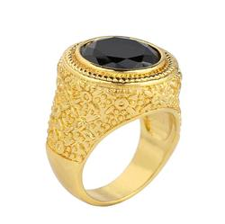 Europe and the United States Lofty High-end Jewelry Men's Gold Plated Ring