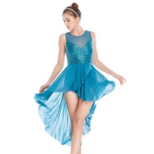 Customized MiDee Stunning Lyrical Sequins Leotard Dance Costumes Dress Dancewear