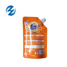 Custom printed shape not leaking 500g 500ml 17.6oz hot sealing liquid detergent pouch stand up flexible plastic packaging bag