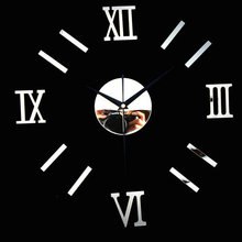 Whosale preciser 3D DIY roman numeral decorative giant big acrylic large size mirror wall clock