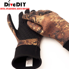 Custom 3mm/5mm Neoprene Camo Free Diving Spearfishing Gloves Especially suitable Spearfishing gloves