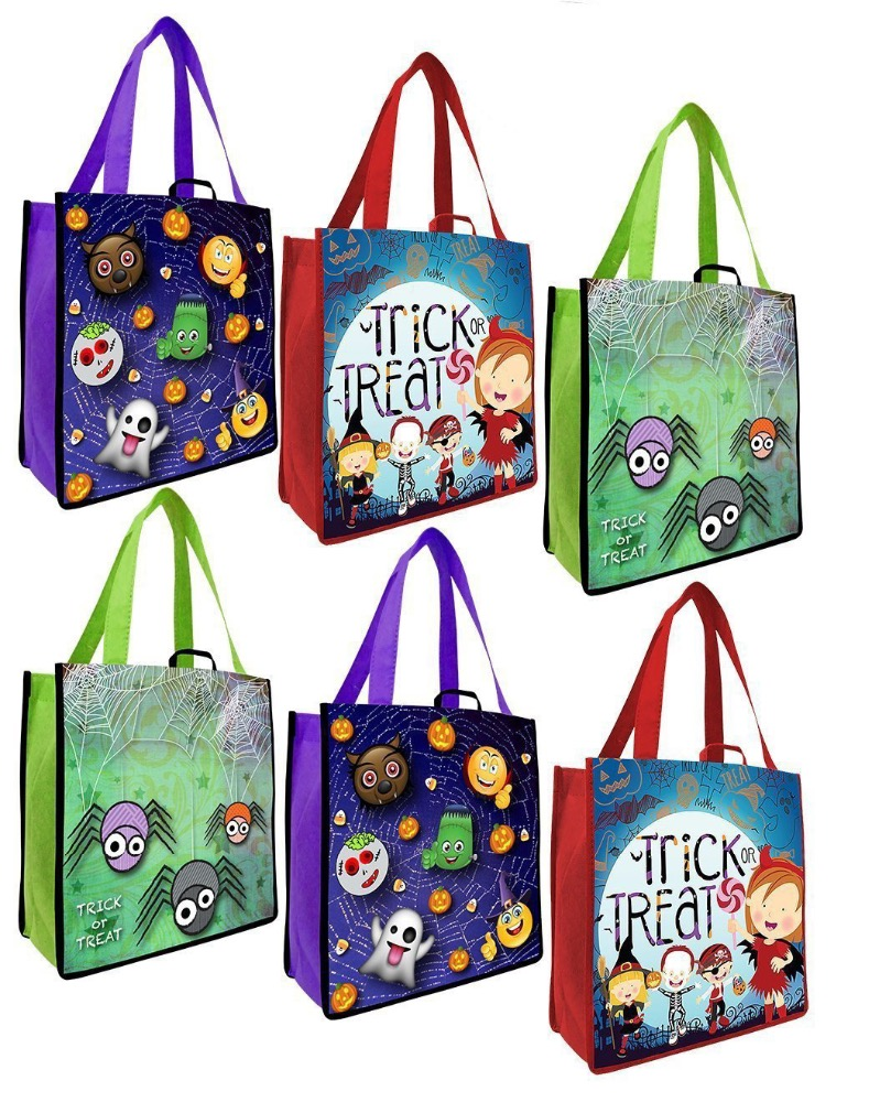 Kids Favorites Halloween Bags Trick or Treat Goodie Bags Reusable Totes Bag
