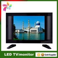 DC Powered LCD tv 15.6 inch TFT Black LCD tv RCA input