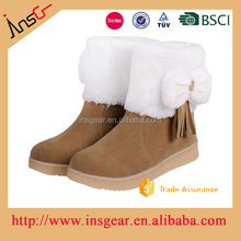 beautiful and warm cotton fabric cheap rubber women ankle boots