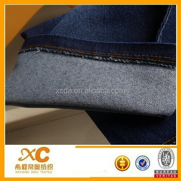 cotton polyester elastane stretch fake knitted fabric