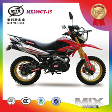 New Design 200cc/250cc Powerful Dirt Bike/Brazil Dirt Bike Double Muffler Inverted Shock