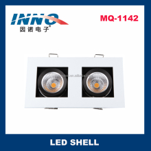 LED Light Housing Parts Aluminum Lamp Shade for Grille Spotlight