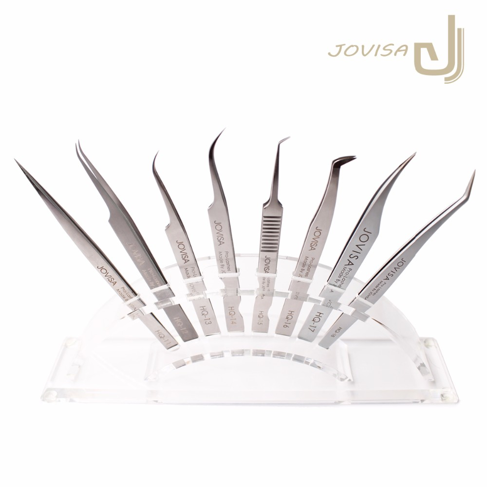 JOVISA High Quality Stainless Steel HQ Series Tweezers HQ-15/16/17/18 Volume Tweezers for Eyelash Extensions