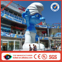 Bollair new design 7m outdoor display giant inflatable smurfs