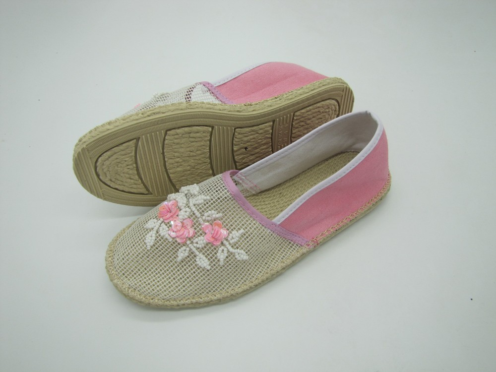Latest design new style good quality espadrille canvas shoes for ladies