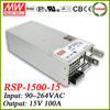 Meanwell RSP-1500-15 switch mode power supply unit