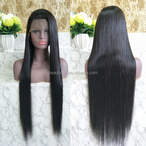 overnight delivery real virgin natural straight brazilian full lace human hair wig