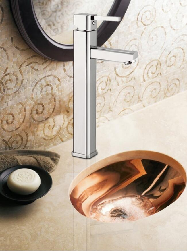 Wholesales low price hotel lavatory bathroom basin faucet with tall body