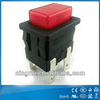 2pin 4pin DPST t105 5E4 momentary latching self-locking rectangular push button snap action switches with indicators
