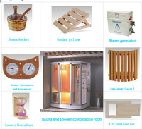 2016 hot sale and newest design steam and shower sauna room