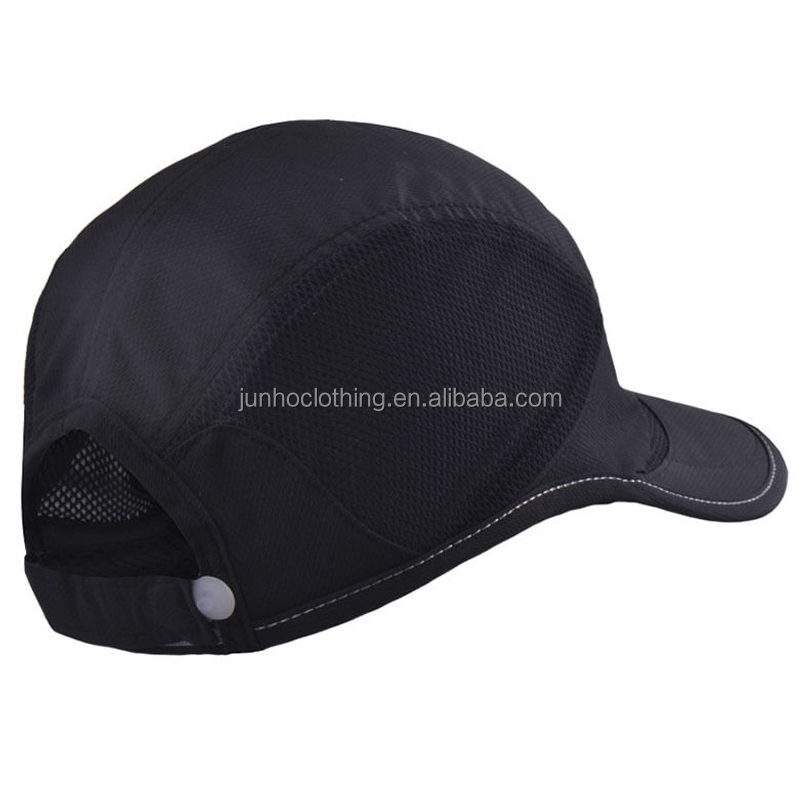 Rubber logo back strap summer mesh trucker hats summer sun visor running cap