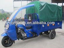 cargo and passenger three wheeler tricycle/ cabin triciclo/ canopy gas rickshaw chongqing gold supplier