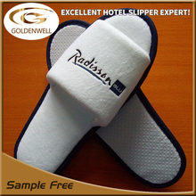 disposable 100% cotton velour velvet hotel slippers for radisson & Excellent hotel slippers expert factory &