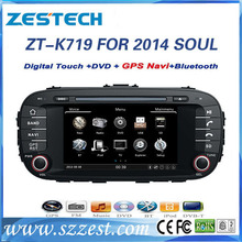 ZESTECH Factory OEM 2014 A8 chipset gps navigation system for Kia Soul car multimedia