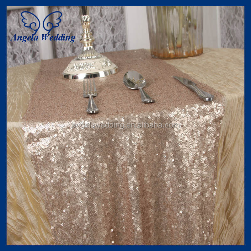 RU001G New 2015 fancy weddding handmade embroidery burlap and lace table runner