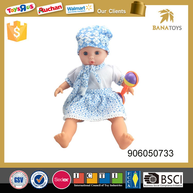 New battery toy doll 16inch silicone crying baby doll for sale