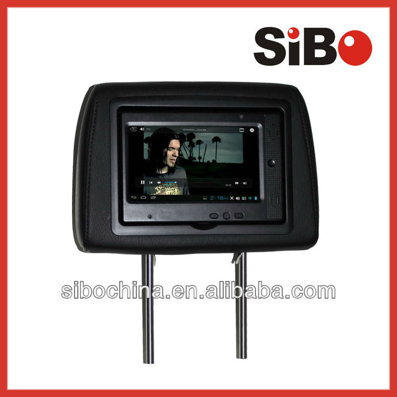 Android 7 Inch Car Headrest Monitor for Taxi with RJ45 Ethernet Port, Wifi, 3G and Headrest