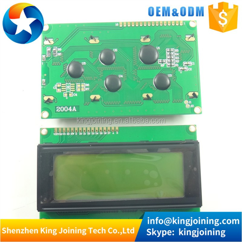 KJ185 LCD Board 2004 20*4 LCD 20X4 5V yellow-green screen black character LCD2004 display LCD module LCD 2004 for arduinos