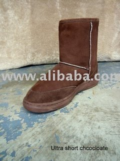 Ultra short sheepskin boots