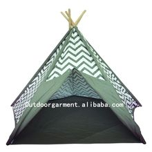TP09 Zhejiang Tulip 100% cotton canvas fabric wholesale kids indoor teepee tents
