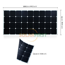 High quality low cost semi flexible solar panel 100W China in sale